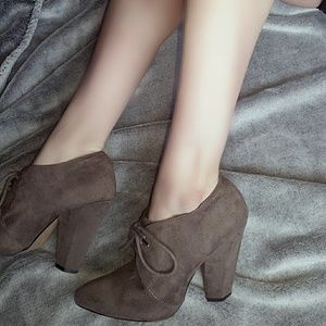 """FIONI Clothing Shoes - Beautiful """"suede""""lace up vintage style oxford pump"""