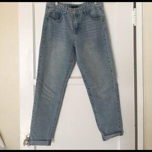 Forever 21 Denim - Forever 21 light wash girlfriend jeans