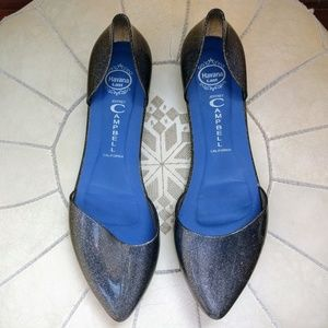 Jeffrey Campbell Shoes - Jeffrey Campbell D'Orsay Jelly Love Silver Flats 8