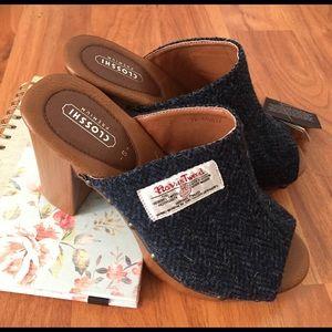 harris tweed Shoes - Tweed mules