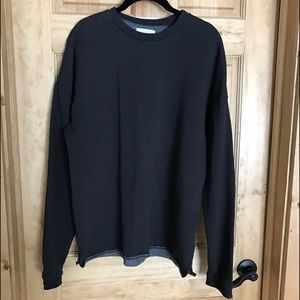 on the byas Other - Men's On The byas Crewneck Sweatshirt Small Bl