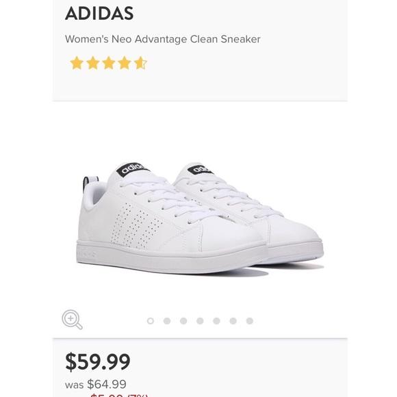 adidas neo advantage clean sneaker womens