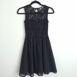 Divided by H&M fit and flare black dress