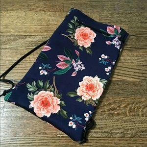 triangl swimwear Handbags - Triangl Delilah - Fiore Nero Floral Bikini Bag