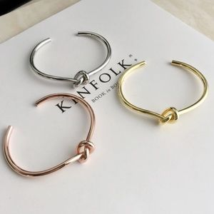 Nordstrom Jewelry - 14kt Gold & Rose Gold Plated Twist Knot Bracelet