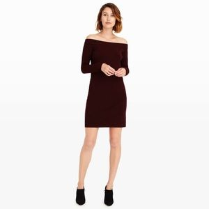 Club Monaco Dresses & Skirts - Club Monaco Sholu Off the Shoulder Sweater Dress