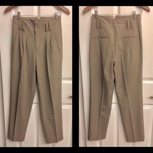 Zara Pants - ZARA WOMAN classic high waist trouser pant, pleats