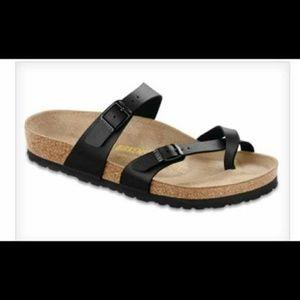 Birkenstock Shoes - Birkenstock Mayari black birko-flor sandals 40