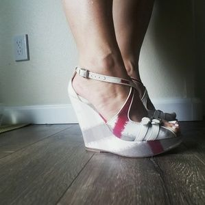 Authentic Burberry Wedge Sandals