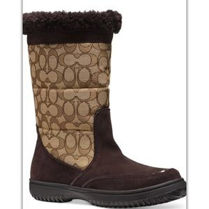 Coach Sherman boots suede brown colors new