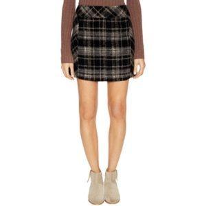 Free People Wool Mini Skirt