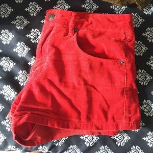 Forever 21 Pants - red corduroy shorts