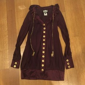 Burgundy Meghan Silk Dress