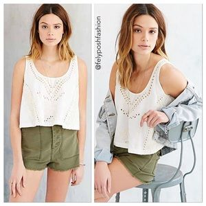 Urban Outfitters Ecote Embellished Boho Chic Top