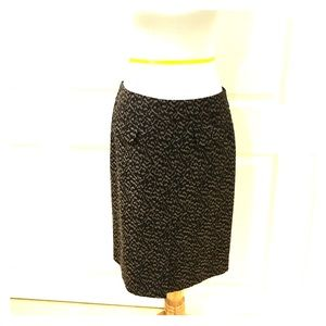 Ann Taylor Animal Print Skirt.