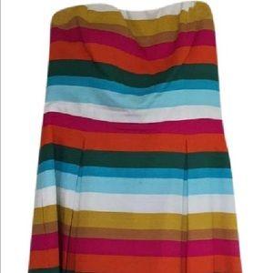Strapless Stripe Dress