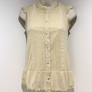 Limited Too Other - Girls Limited Too Size 10 Beige/Tan Blouse