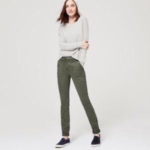 LOFT Pants - Loft skinny cropped sage chinos NWT MARKDOWN!