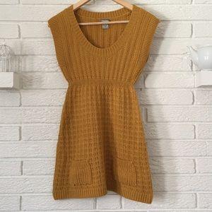 Daytrip Dresses & Skirts - Daytrip Mustard Sweater Dress