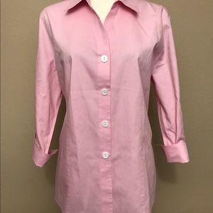 Foxcroft Tops - Foxcroft no iron pink button down shirt