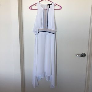BCBG White high-low Dress