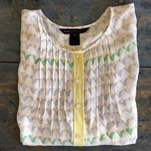 Marc Jacobs burnside print silk blouse