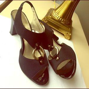 Karen Scott Shoes - KAREN SCOTT dressy heels in black and gold