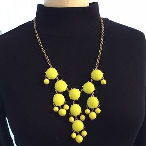 J.Crew Bubble Necklace | Yellow