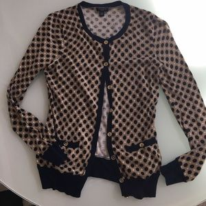 Polka Dot Button Down Cardigan