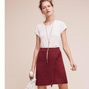 Anthropologie Maeve sweater fringe skirt