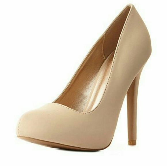 Nwt Nude Rounded Toe Stiletto Pump