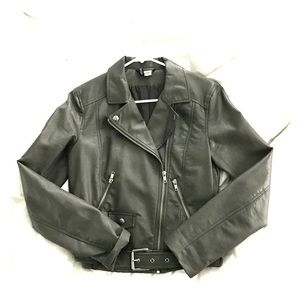 H&M Gray Leather Jacket