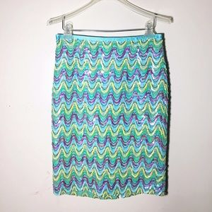 Cynthia Steffe Dresses & Skirts - Cynthia Steffe sequin chevron pencil skirt 10