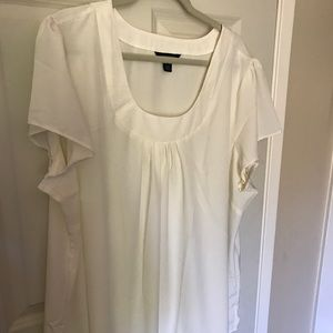 Lands' End Tops - Silky soft white blouse NWOT!! 💎💎
