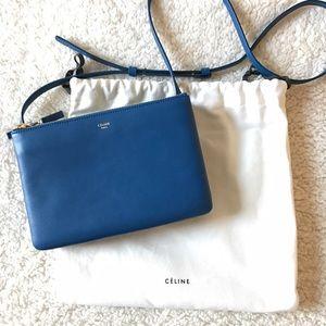 Celine Handbags - Celine trio small smooth leather in Sea