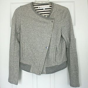 NWOT🐑Trina Turk🐑French Terry Zip Front Jacket