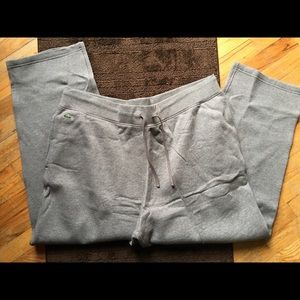 Lacoste Other - MENS LACOSTE $135 2XL GRAY SWEAT PANTS NWT