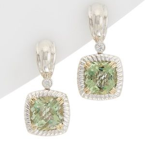 Charles Krypell 14k Gold & Silver Green Amethyst