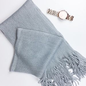 Urban Luxe Design Other - Unisex Grey Fringe Scarf