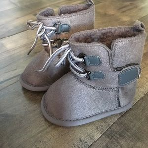 Other - Gray baby booties