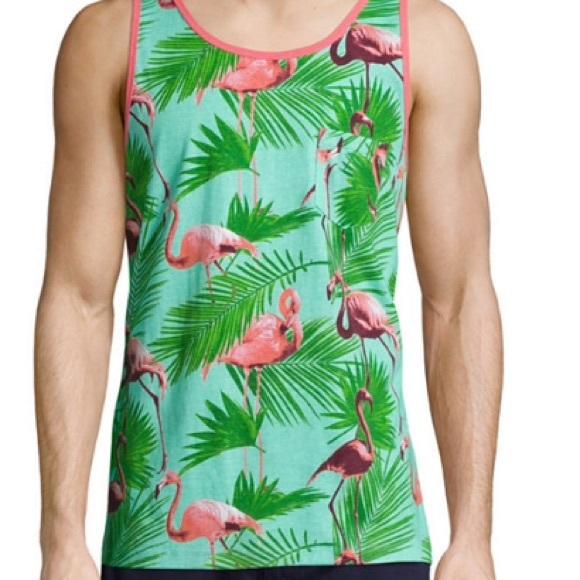 3961966b Arizona Jean Company Shirts | 1 Left New Mens Arizona Flamingo Tank ...