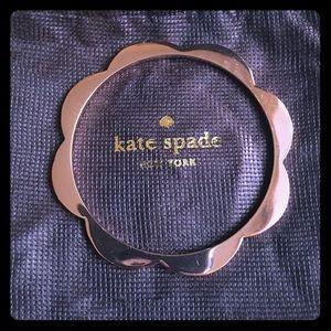 ♠️KATE SPADE♠️ Rose Gold Scallop Bangle Bracelet