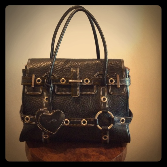 4c2ca47581 Luella Bags | Giselle Black Leather Handbag | Poshmark