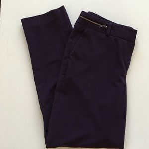Larry Levine Pants - Larry Levine washable purple work trousers career
