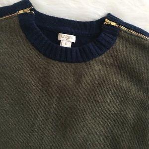 J.Crew colorblock zip sweater