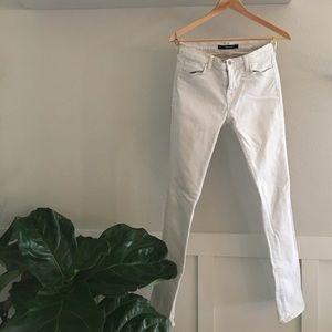 J Brand Denim - J Brand 'Rail' White Skinny Jeans