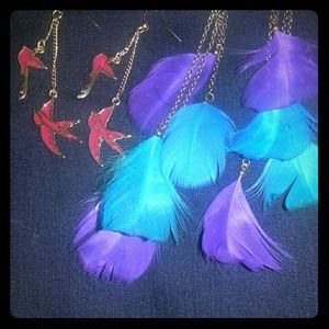 Two pairs of dangle earrings