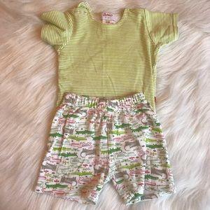 Zutano Other - Zutano boutique brand girls baby 0-6 mod set gator