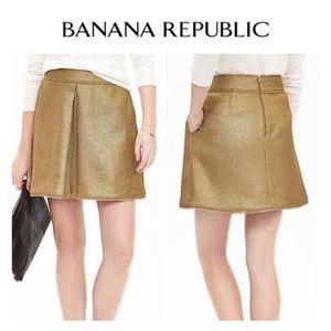 Banana Republic Dresses & Skirts - 🔥FINALPRICE🔥Banana Republic Gold Metallic Skirt
