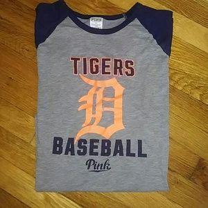 VS PINK Detroit Tigers Tee. Size L.
